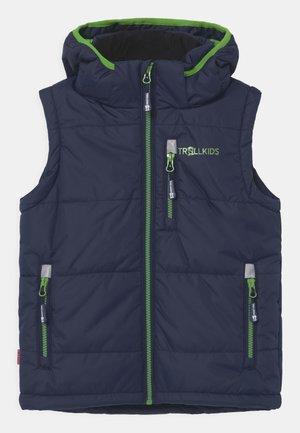 NARVIK UNISEX - Waistcoat - navy/bright green