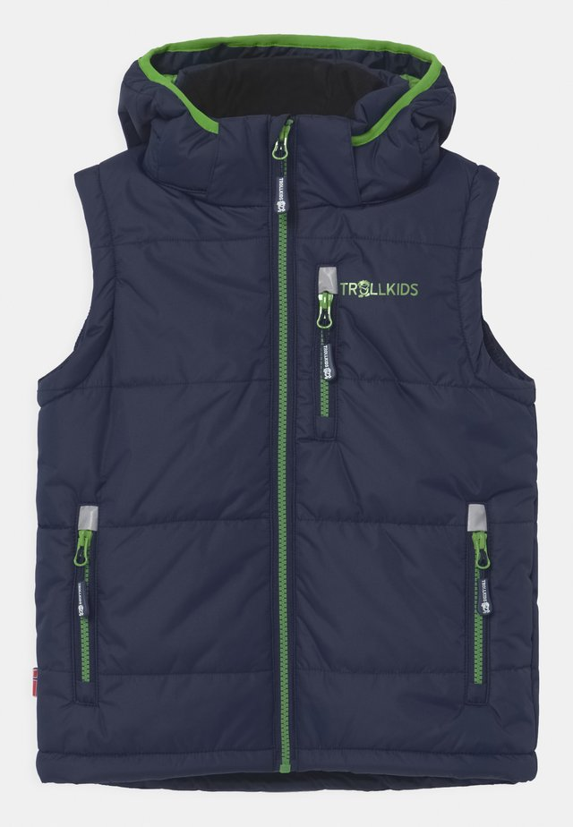 NARVIK UNISEX - Bodywarmer - navy/bright green