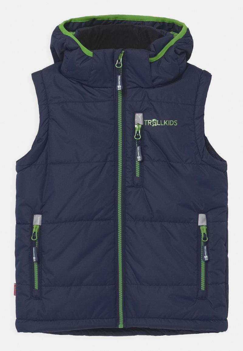 TrollKids - NARVIK UNISEX - Waistcoat - navy/bright green