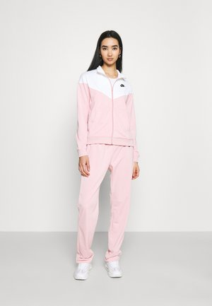 TRACK SUIT SET - Zip-up hoodie - pink glaze/white