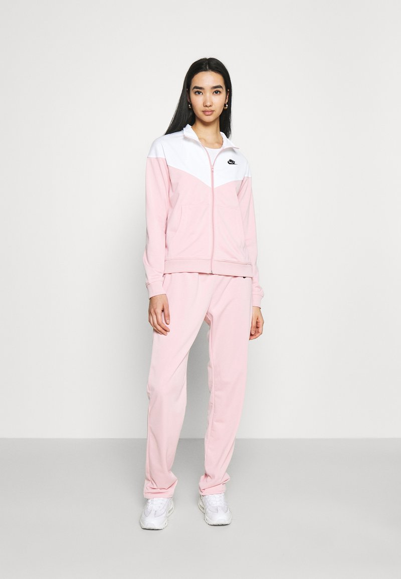 Nike Sportswear - TRACK SUIT SET - Zip-up hoodie - pink glaze/white
