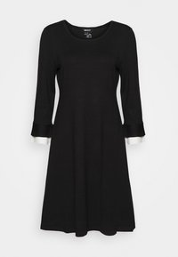 SHEATH WITH CONTRAST SLEEVE DETAIL - Shift dress - black/ivory