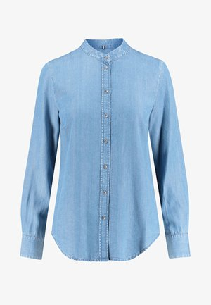 LONG SLEEVE - Button-down blouse - blue