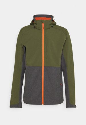 BASSUM - Soft shell jacket - dark olive