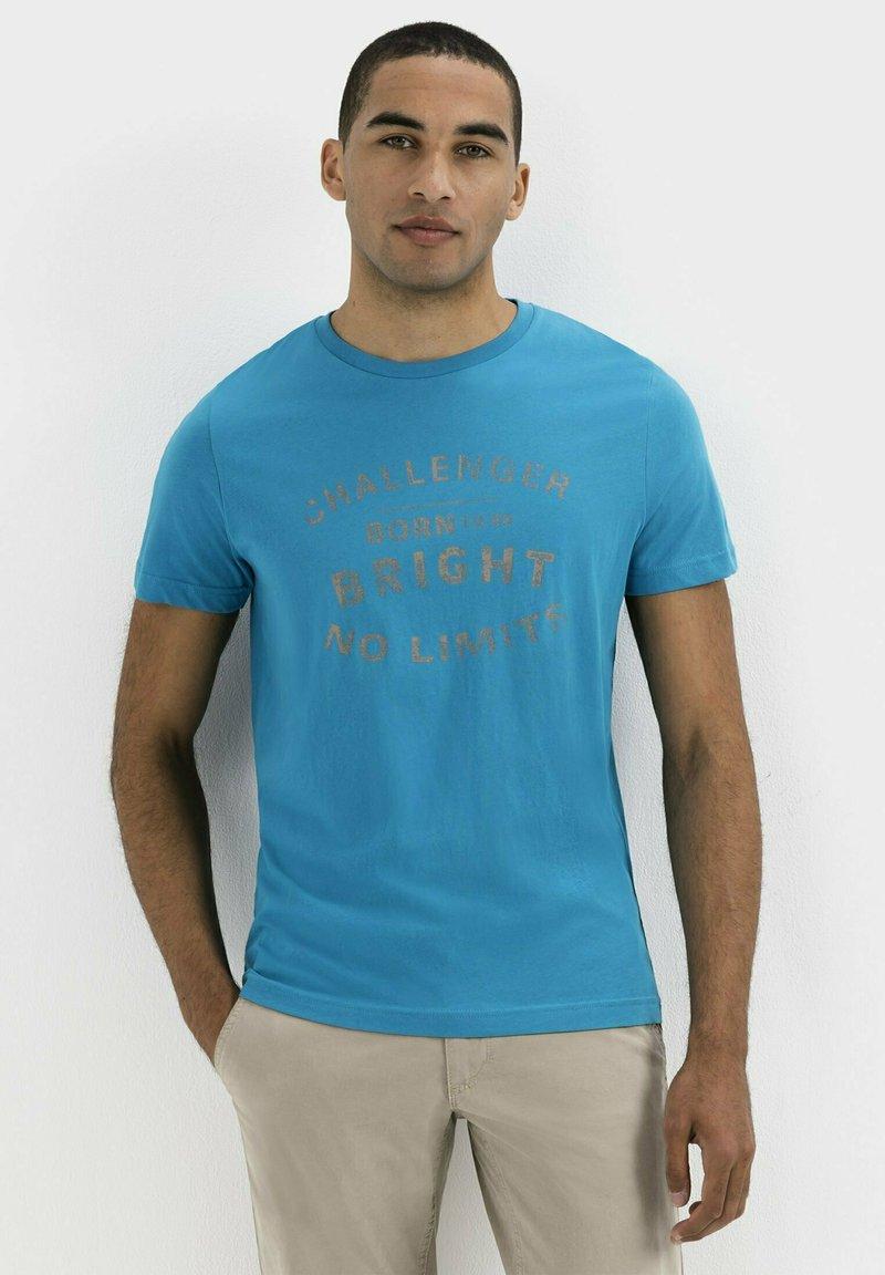 camel active - Print T-shirt - ocean blue