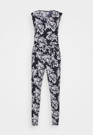 OVERALL - Jumpsuit - dark blue/white