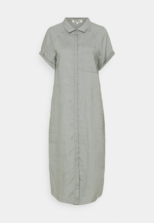 LYCHEE DRESS WOMAN - Shirt dress - charcoal khaki