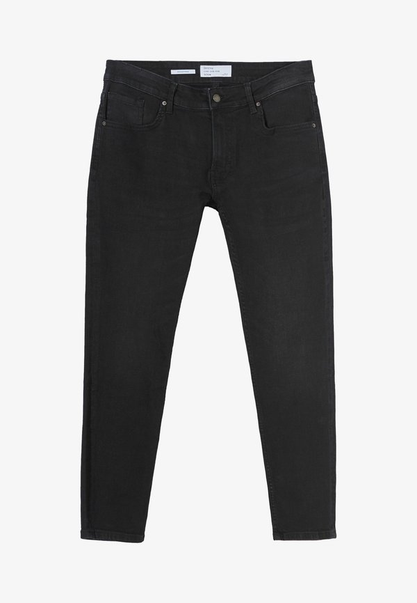 Bershka Jeansy Skinny Fit - black/czarny Odzież Męska FTBJ