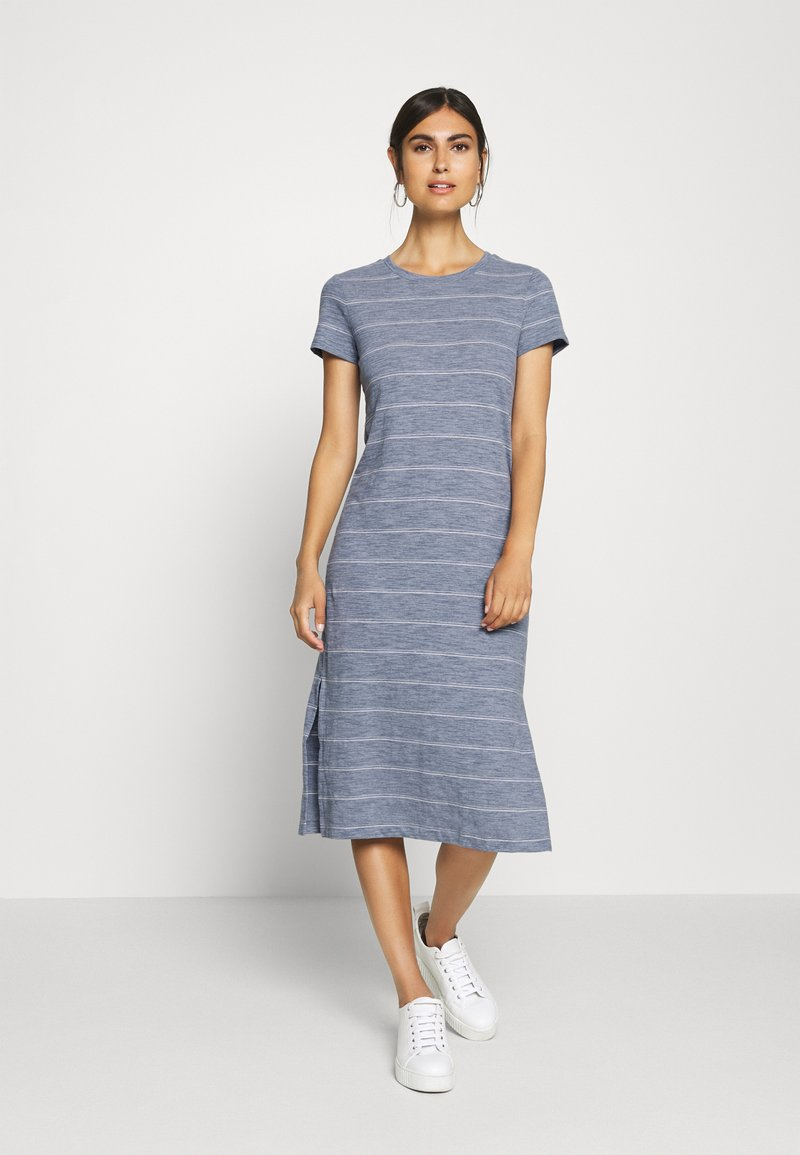 GAP - CREW MIDI DRESS - Jersey dress - grey