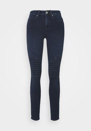 ONLROYAL LIFE BIKER - Jeans Skinny Fit - dark blue denim