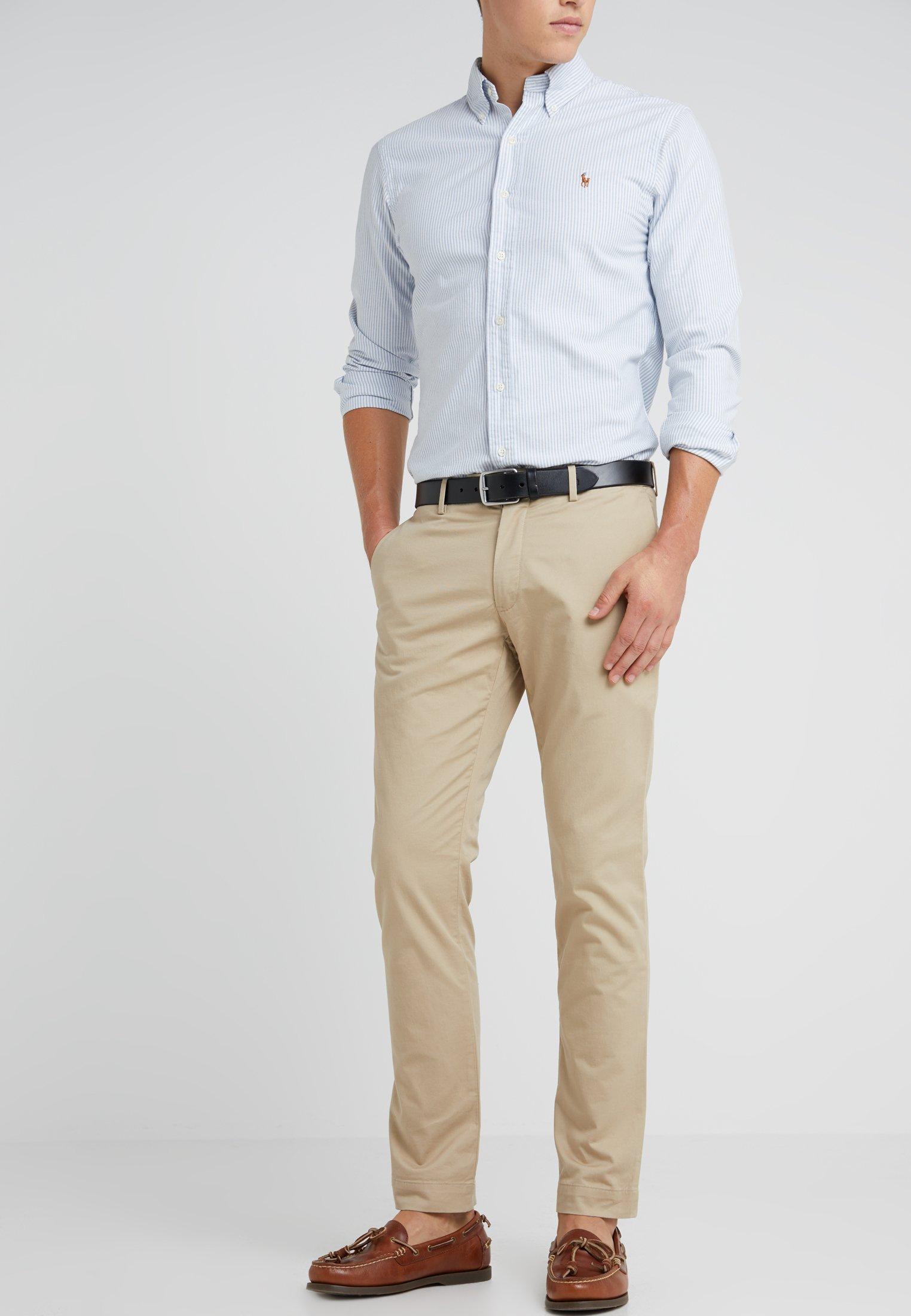 Polo Ralph Lauren Flat Pant Trousers Classic Khaki Khaki Zalando Co Uk