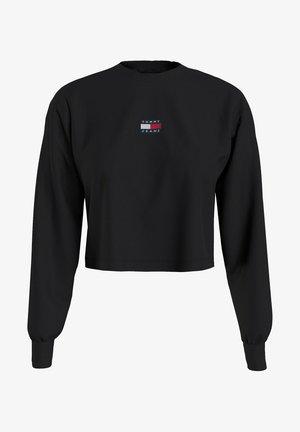 BADGE - Maglietta a manica lunga - black