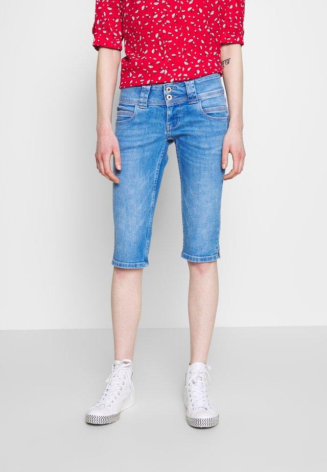 VENUS CROP - Jeans Shorts - blue denim