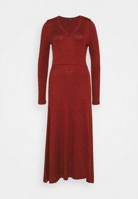 VNECK COZY - Jumper dress - burnt caramel