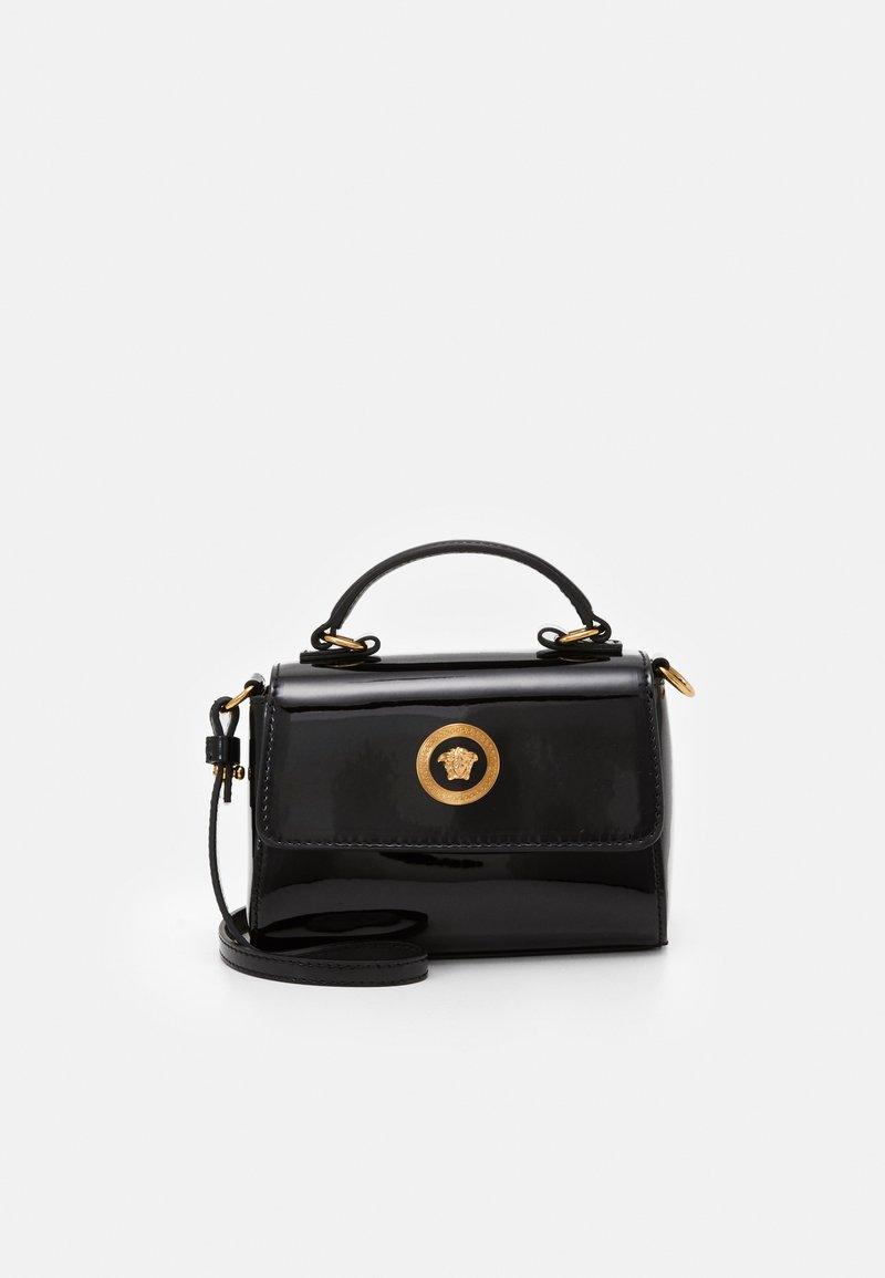 Versace - BORSA TOTE MEDUSA RASO  - Across body bag - nero/oro versace