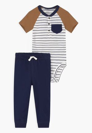 HENLEY SET - Print T-shirt - dark blue