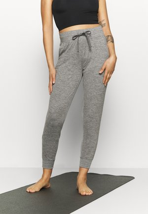 BRUSHED JOGGER - Tracksuit bottoms - medium grey heather