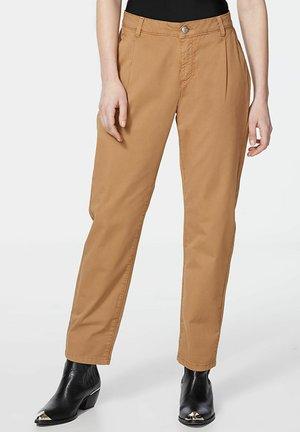 GABARDINE - Trousers - beige