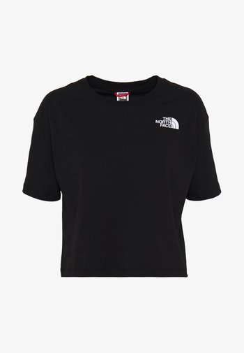 CROPPED SIMPLE DOME TEE  - Basic T-shirt - black