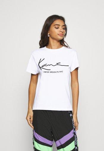 SIGNATURE TEE - T-shirt imprimé - white