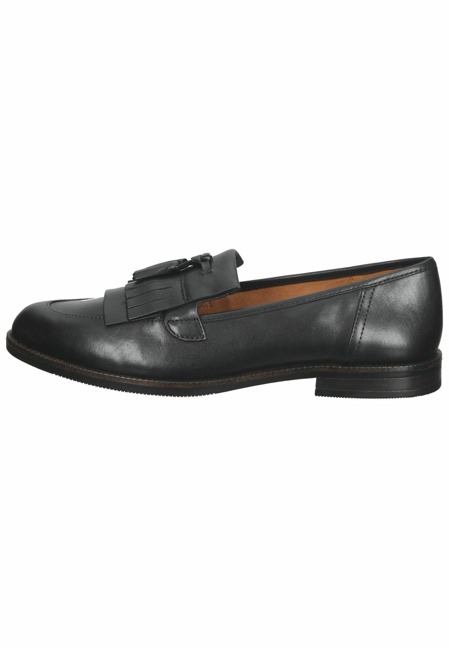 Damen Slipper - black nappa