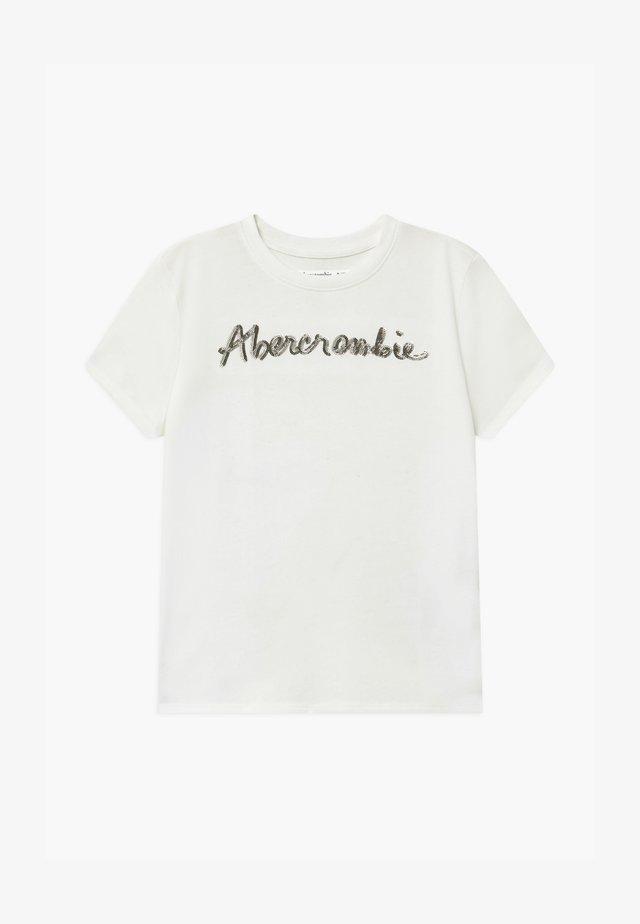 SEQUIN LOGO TEE - Print T-shirt - white