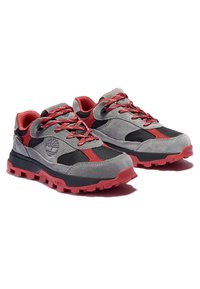 Timberland - TRAIL TREKKER LOW GTX - Sports shoes - grey red - 2