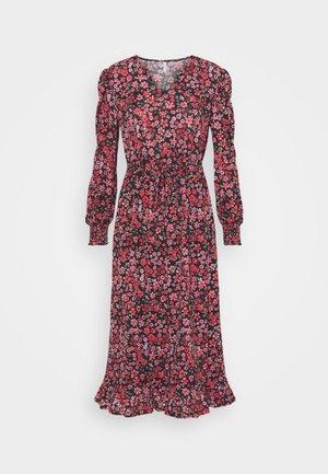 ONLPELLA  - Day dress - black/shore flowers pink