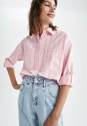 LOOSE FIT  - Button-down blouse - pink