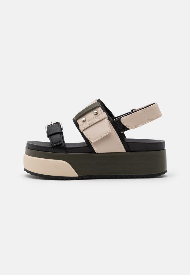 HARBOUR - Sandales à plateforme - beige