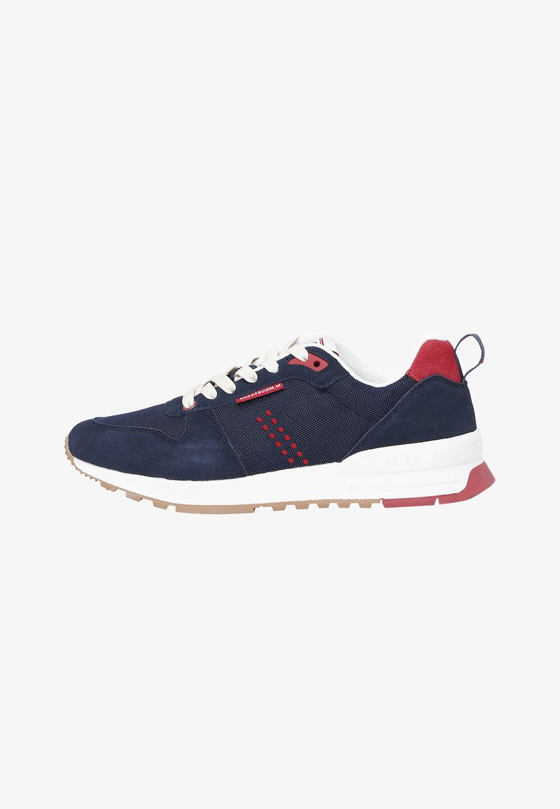 M. Moustache - DANIEL - Sneakers laag - navy blue red