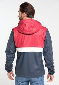 Schmuddelwedda - Waterproof jacket - red/marine - 2