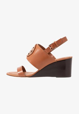 METAL MILLER WEDGE - Sandalias de cuña - tan/rose gold