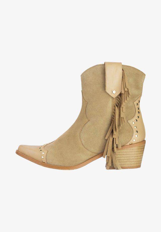 KAIRA - Cowboy-/Bikerlaarsjes - camel
