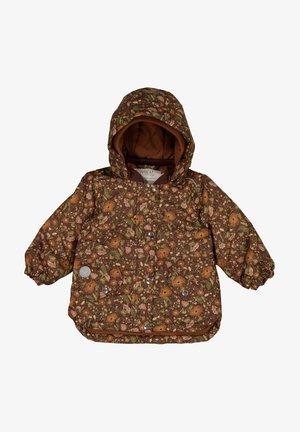 Outdoor jacket - maroon flowers
