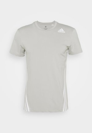 PRIMEGREEN TRAINING SPORTS SHORT SLEEVE TEE - Camiseta estampada - metal grey