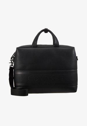 STRIPED LOGO - Briefcase - black