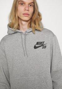Nike SB - ICON HOODIE UNISEX - Hoodie - grey heather/black - 4