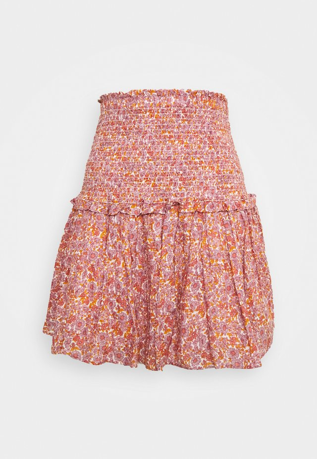 TIERD MINI SKIRT - A-line skirt - blood orange
