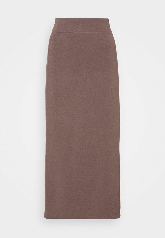 HYLIOS - Maxi skirt - dark mink