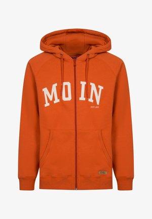 MOIN - Sweater met rits - burnt ochre