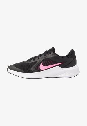 DOWNSHIFTER - Neutral running shoes - black/pink glow/anthracite/white