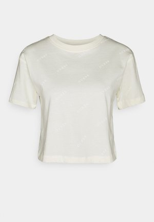 CROP - Print T-shirt - sweet white