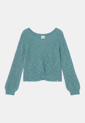 TWIST FRONT  - Jumper - blue marl
