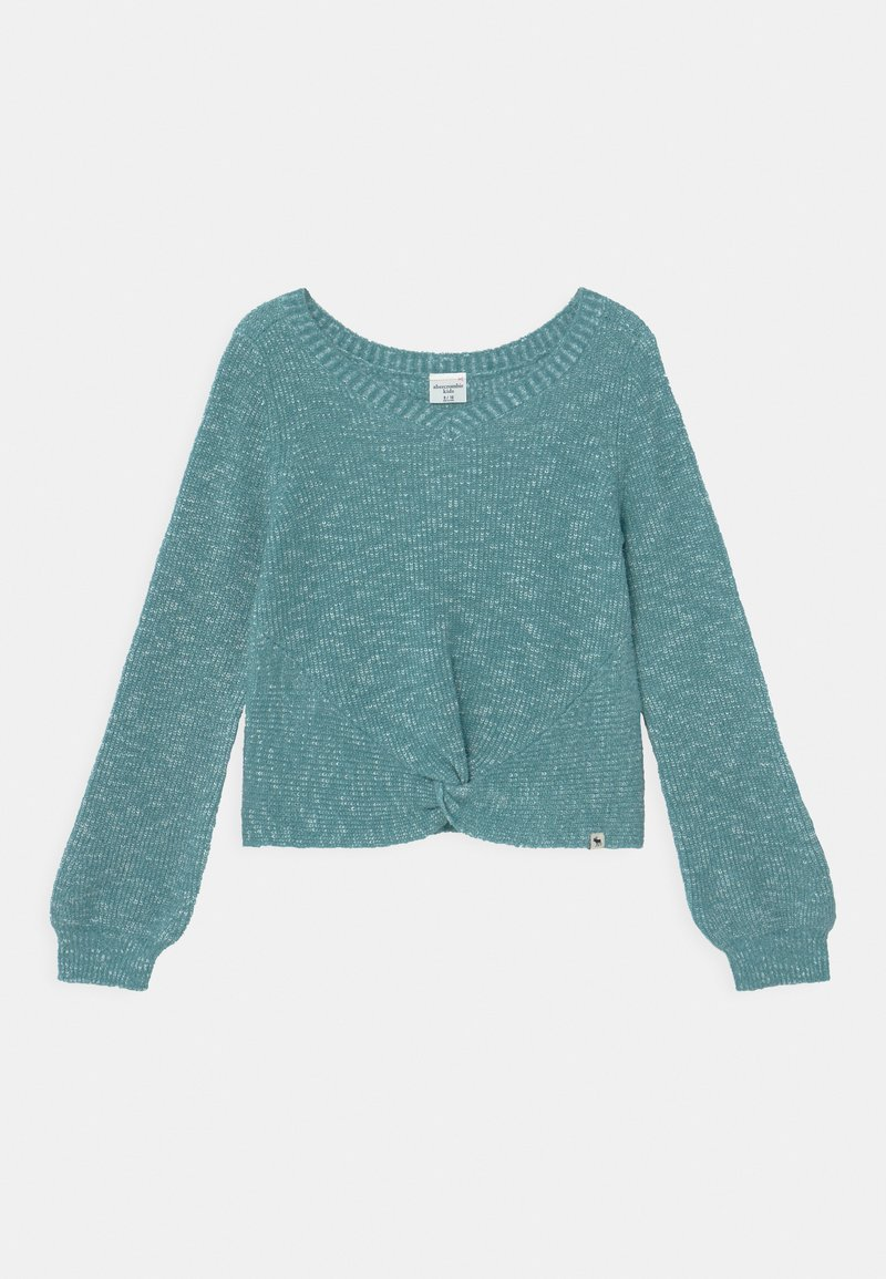 Abercrombie & Fitch - TWIST FRONT  - Jumper - blue marl