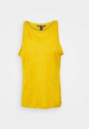 HALTER TANK - Débardeur - golden yellow
