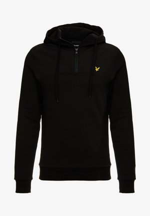 SOFTSHELL 1/4 ZIP HOODIE - Hoodie - true black