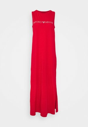 LONG TANK DRESS - Camicia da notte - red/silver