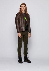 BOSS - JEEAN  - Leather jacket - dark brown - 1