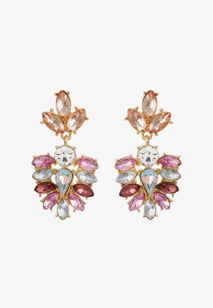 PCBEL EARRINGS - Oorbellen - gold-coloured/pink